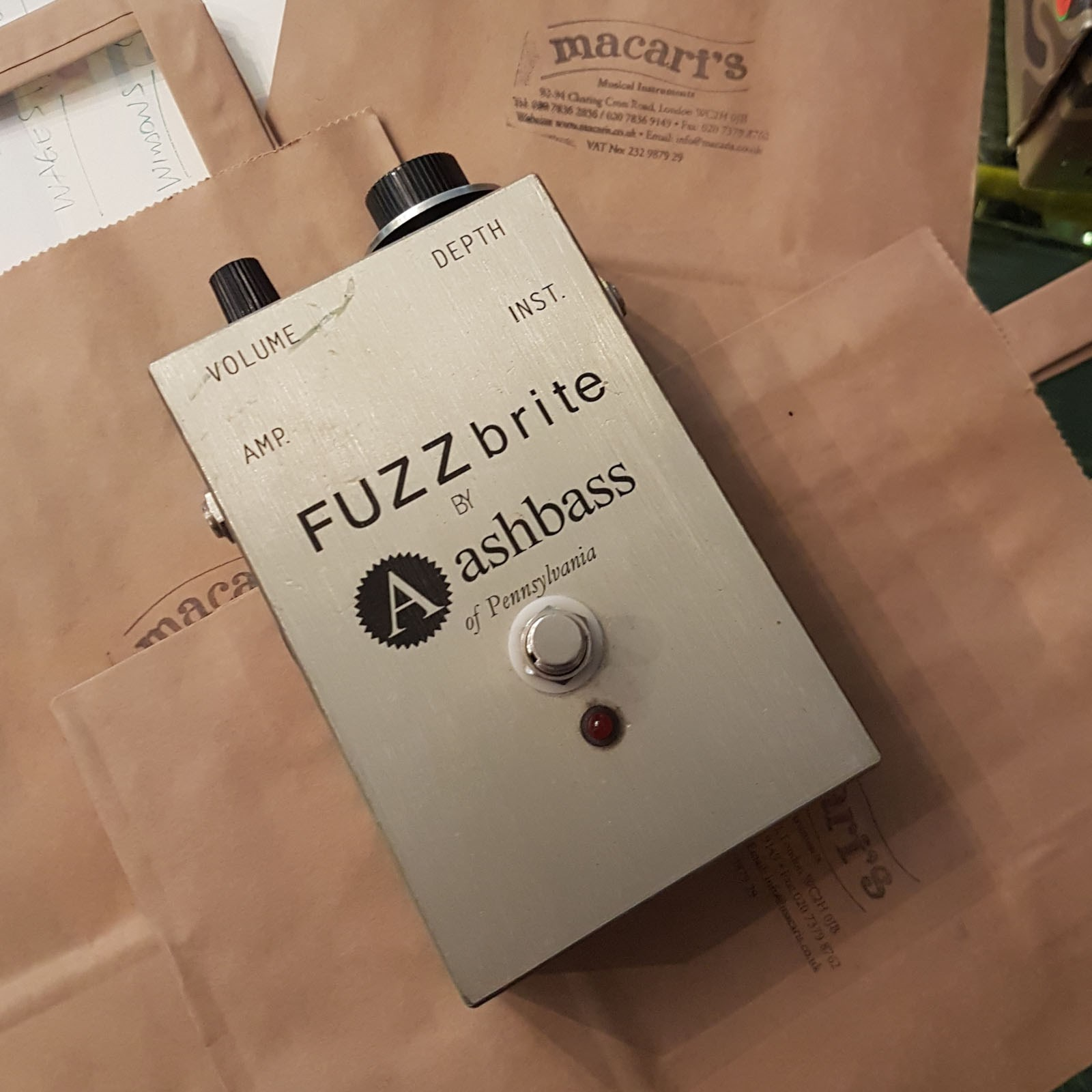 used ashbass fuzzbrite