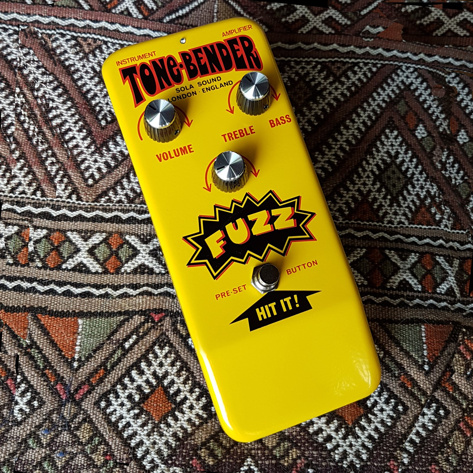 The Yellow Hybrid OC140 Tone Bender by jake r ....