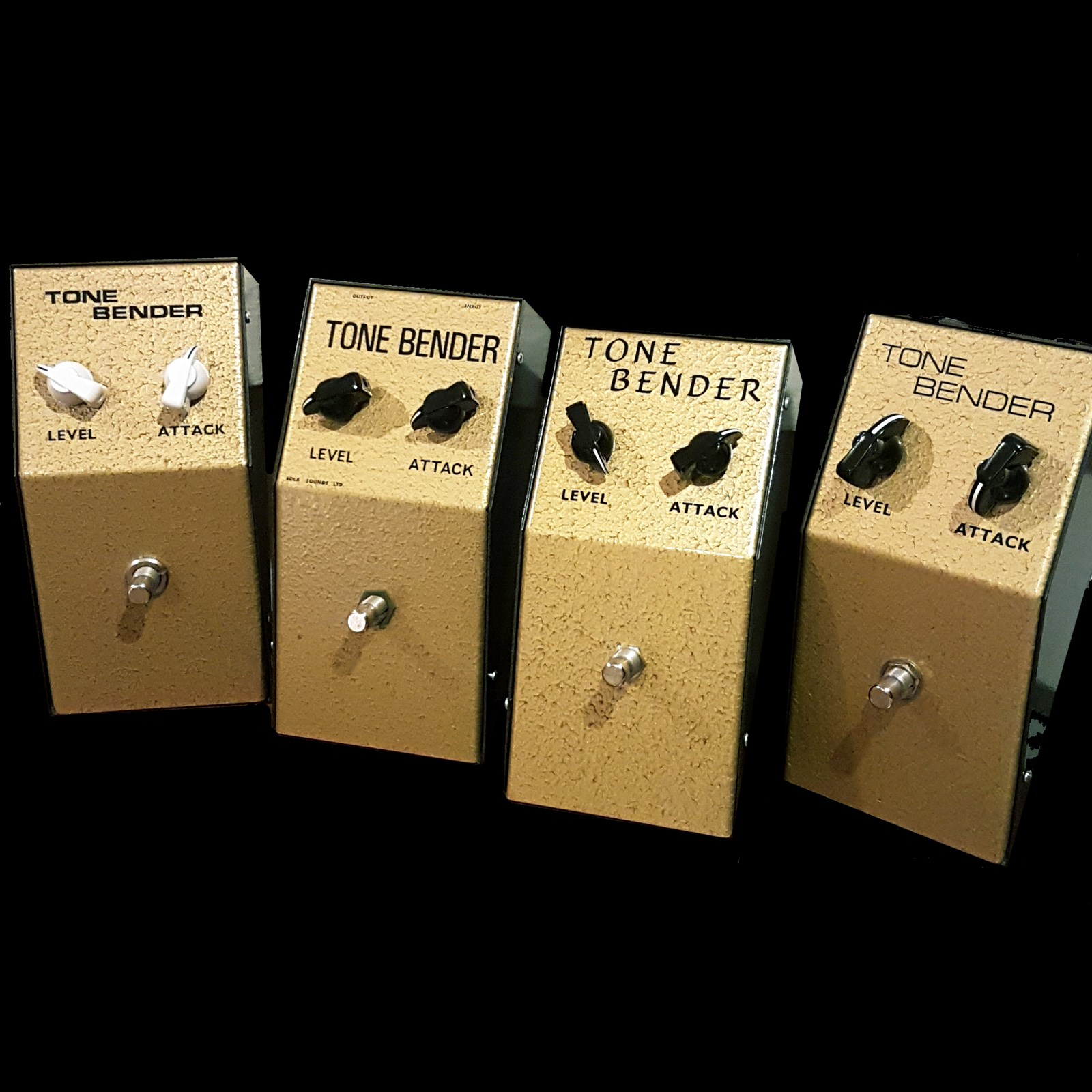 THE SET OF FOUR MK I TONE BENDERS