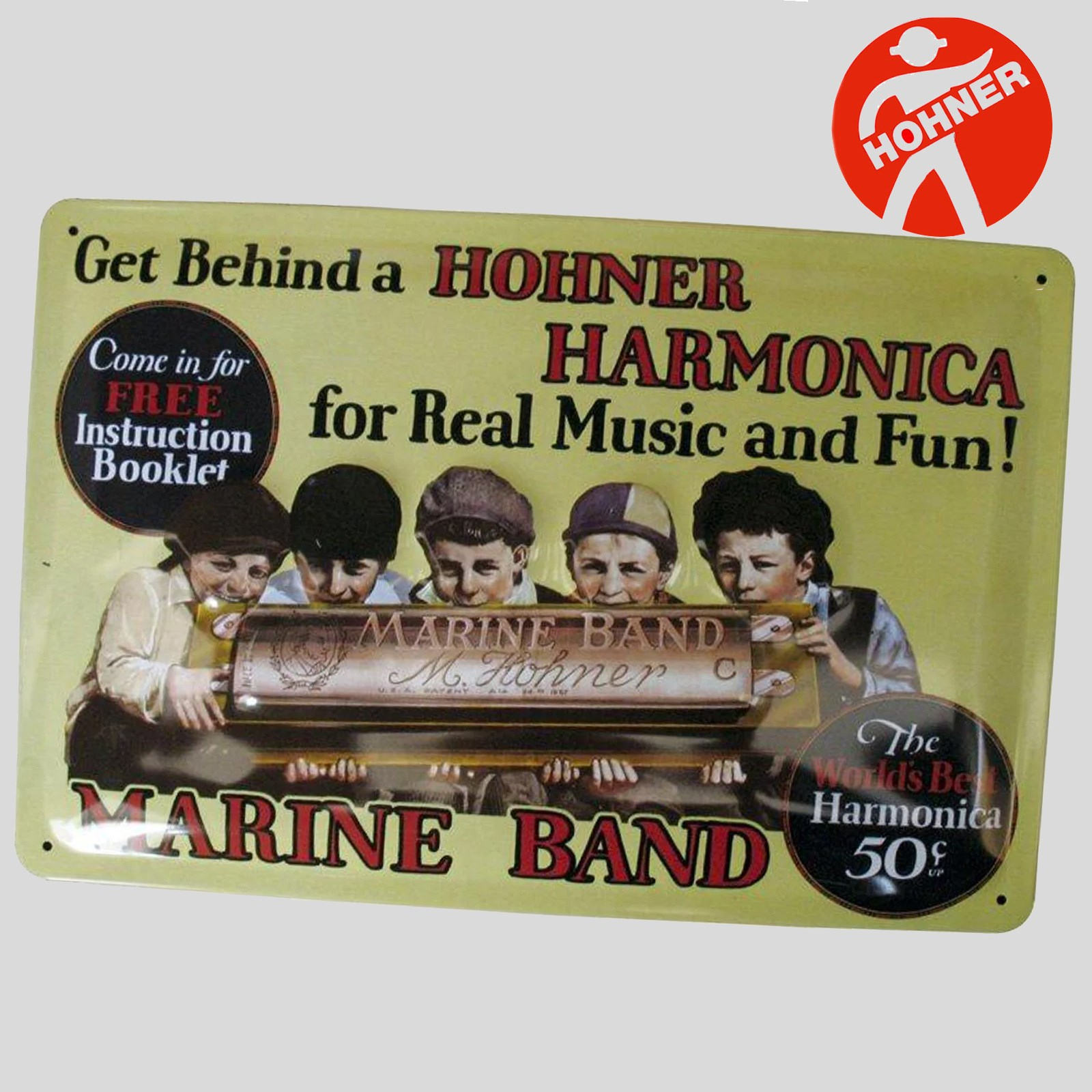 Hohner Tin Plate Advert